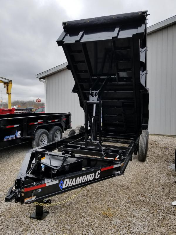 2018 Diamond C 14' 14900 lb GVWR Dump trailer. 98100