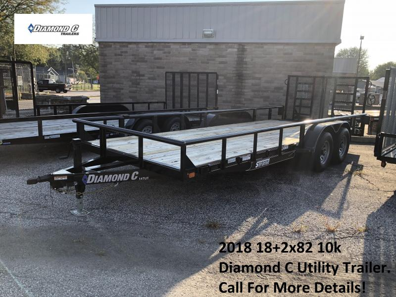 2018 18+2x82 10k Diamond C Utility Trailer. 3812