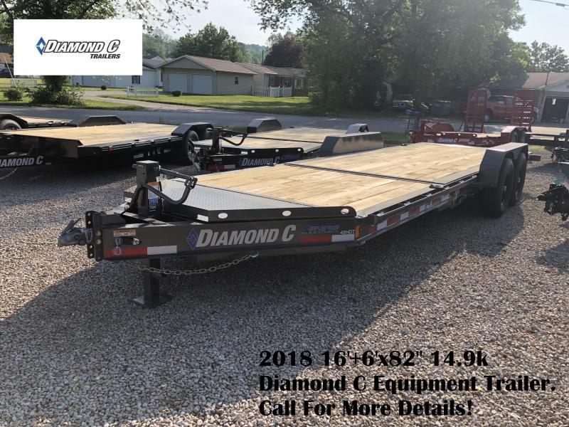 "2018 16'+6'x82"" 14.9k Diamond C Equipment Trailer. 00480"