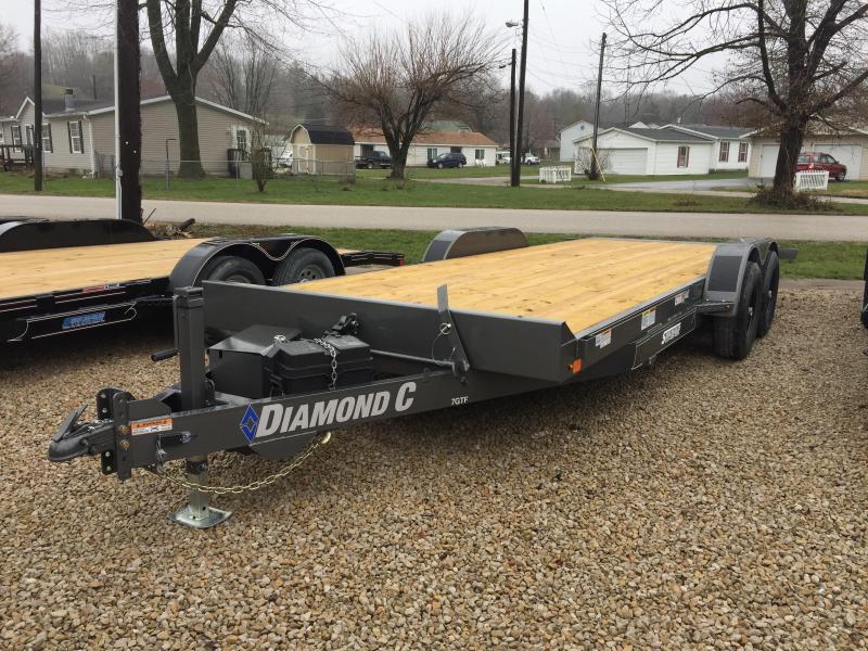 2018 20' 10k Diamond C Car Trailer. 98142