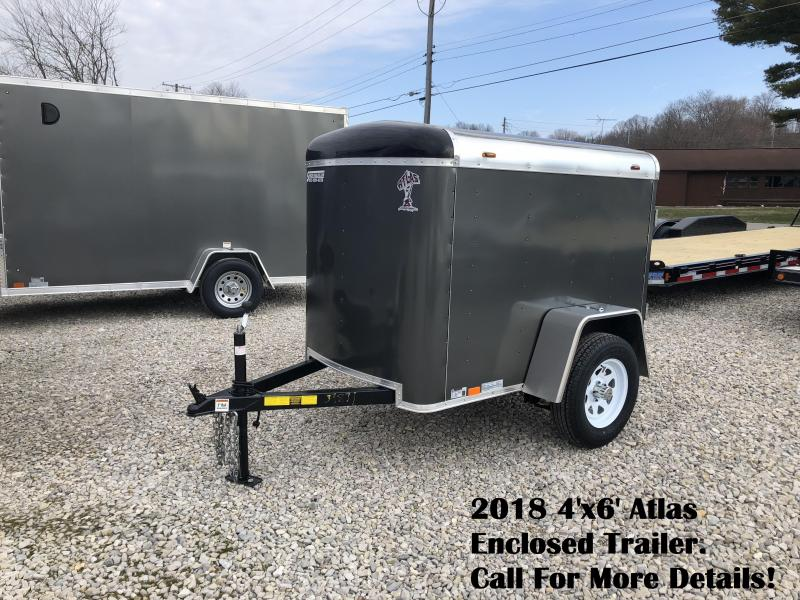 2018 4'x6' Atlas Enclosed Trailer. 39871