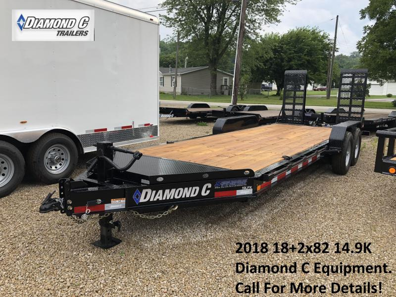 2018 18+2x82 14.9K Diamond C Equipment Trailer. 2643