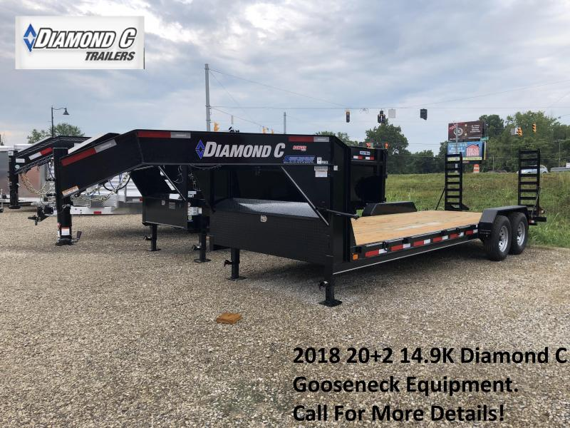 2018 20+2 14900lb. GVWR Diamond C Gooseneck Equipment. 03515
