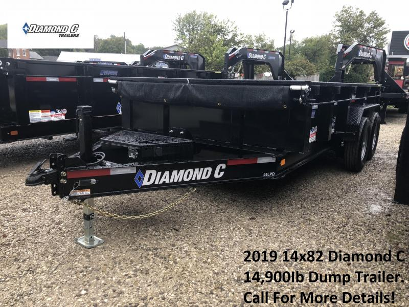 2019 14x82 14.9K Diamond C Dump Trailer. 5933