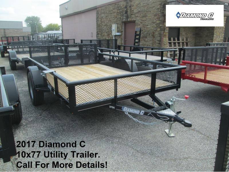 "2017 Diamond C 10' x 77"" Utility Trailer. 92304"
