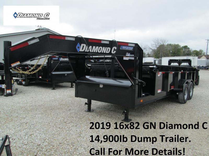 2019 16x82 14.9K GN Diamond C Dump Trailer. 6568