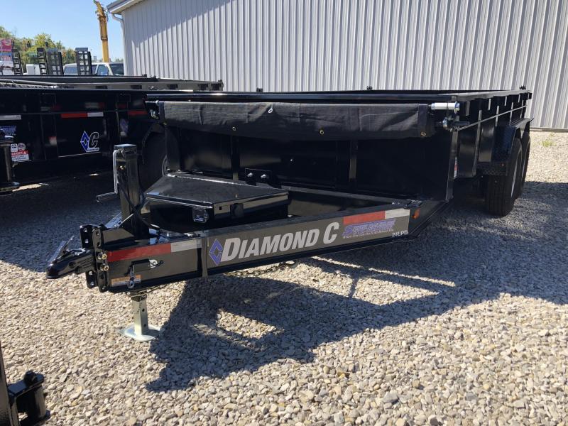 "2019 82""x14' 14900lb GVWR Diamond C Dump. 05099"