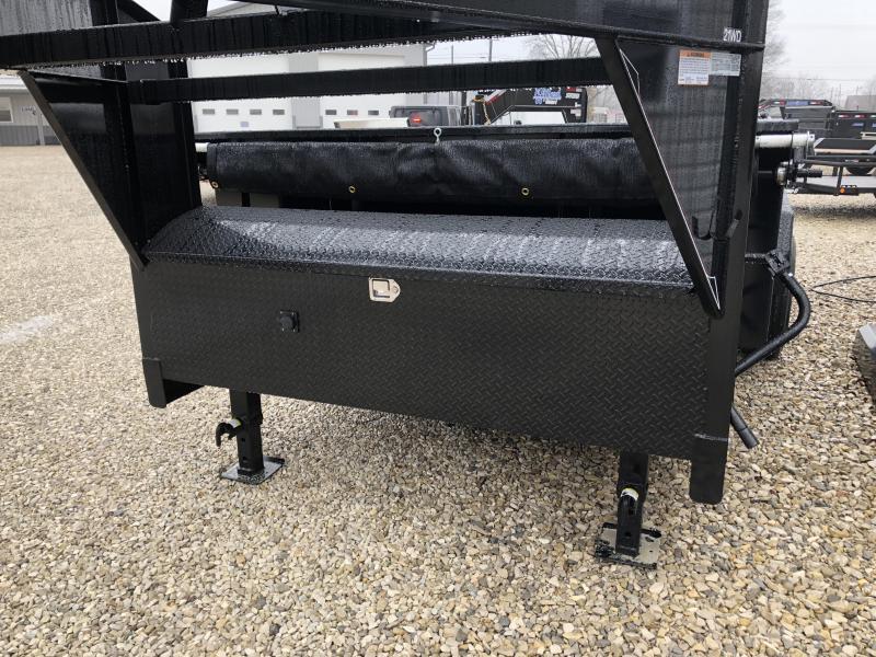 2018 82x14 14900lb GVWR Diamond C GN Dump Trailer. 96911