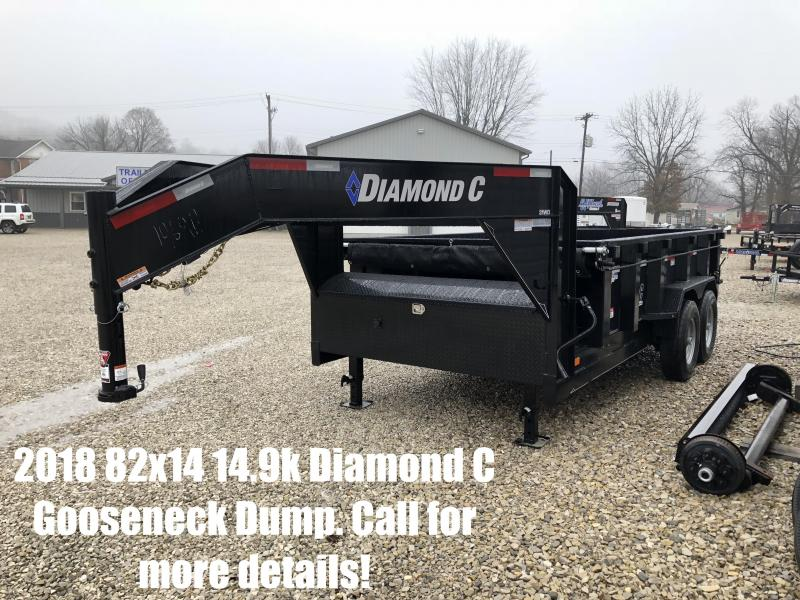 2018 82x14 14900lb GVWR Diamond C GN Dump Trailer. 96911