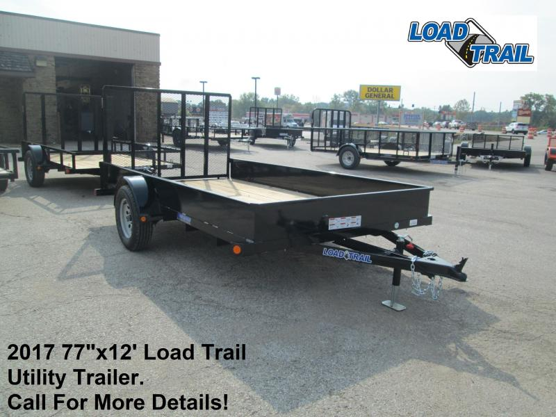 "2017 77""x12' Load Trail Utility Trailer. 46563"