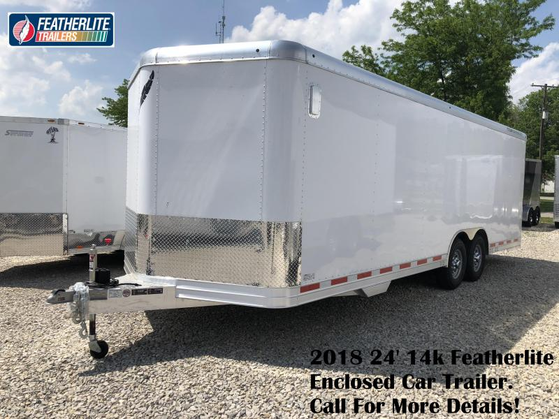 2018 24' 14k Featherlite Enclosed Car Trailer. 148861