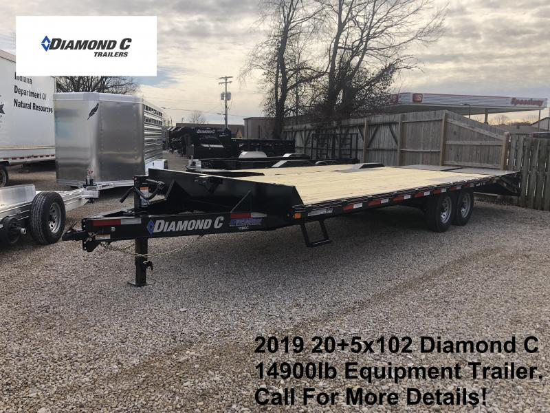 2019 20+5x102 14.9K Diamond C Equipment Trailer. 09950