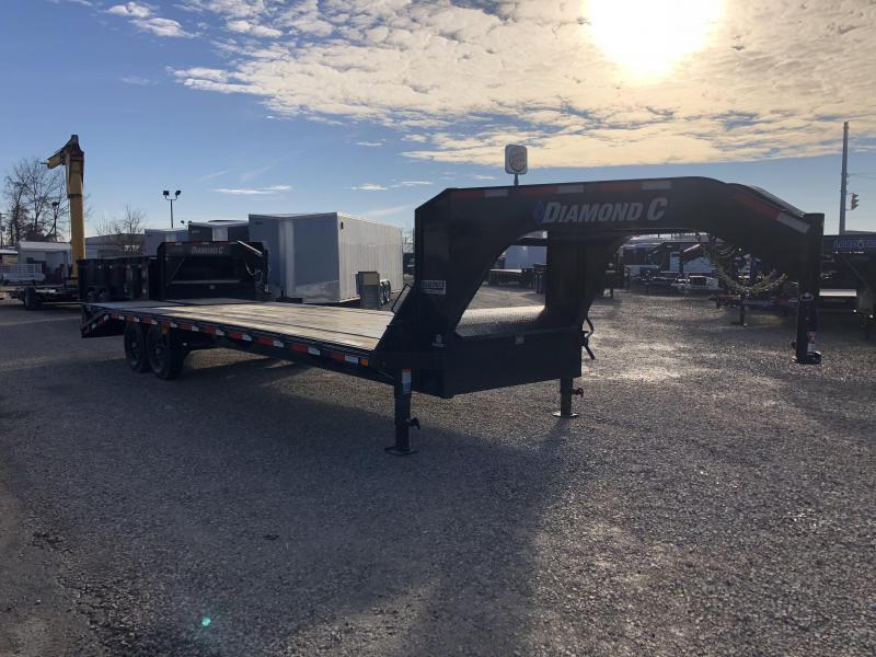 2019 20'+5' 15.5K Diamond C GN Equipment Trailer. 08860