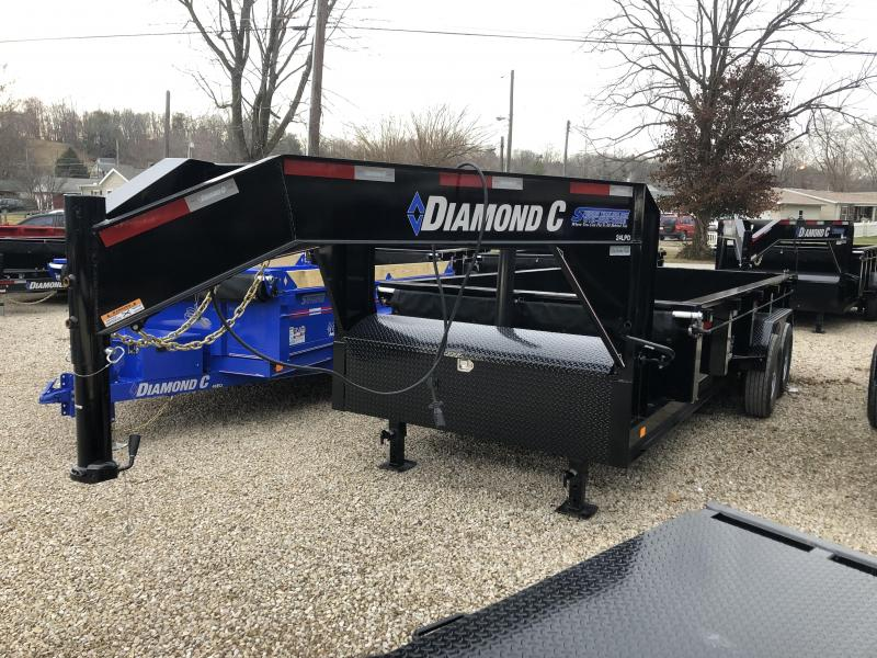 "2019 82""x16' 14900lb GVWR Diamond C Tilt Over Dump. 06566"