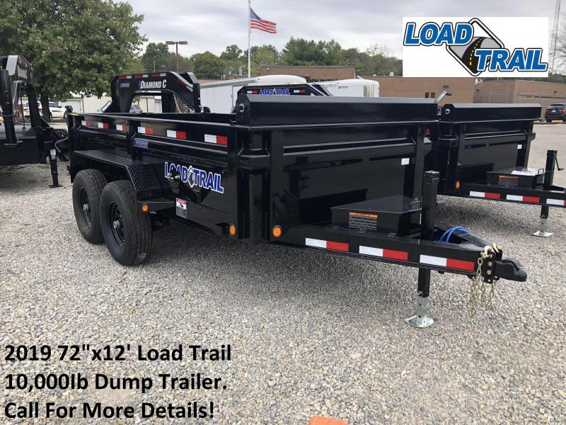 "2019 72""x12' 10K Load Trail Dump Trailer. 76729"