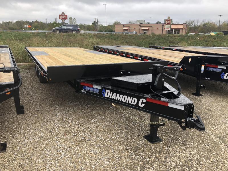 """2019 102""""x22' 14900lb. GVWR Diamond C Full Tilt Deckover. 06193"""