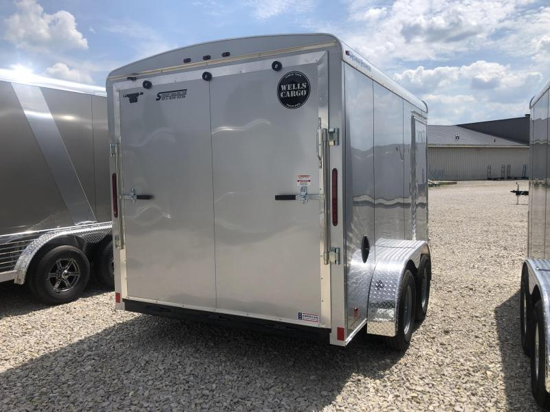 2019 7x12 7K Wells Cargo Enclosed Trailer. 1032
