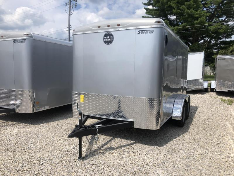 2019 7x12 7K Wells Cargo Enclosed Trailer. 1032