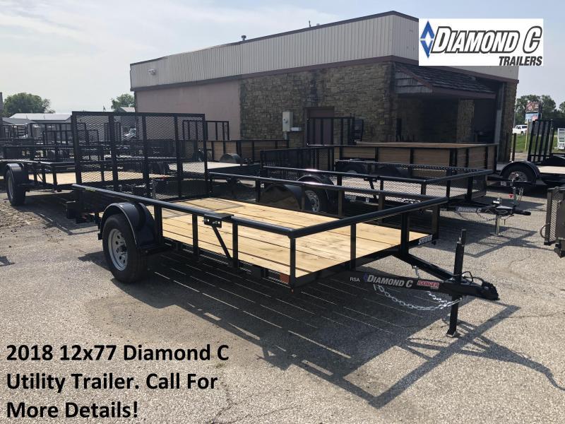 2018 12x77 Diamond C Utility Trailer. 2603
