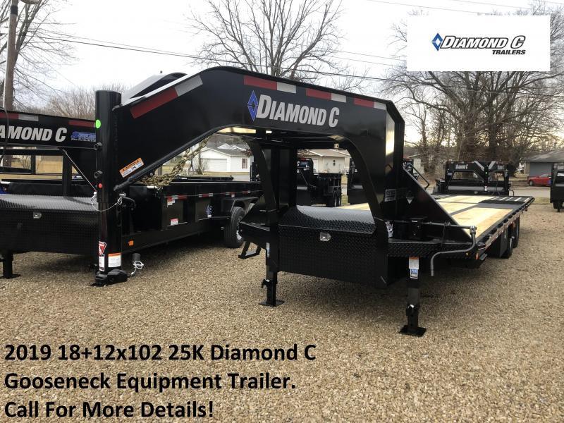 2019 18+12x102 25K Diamond C  GN Engineered Beam Equipment Trailer. 10260