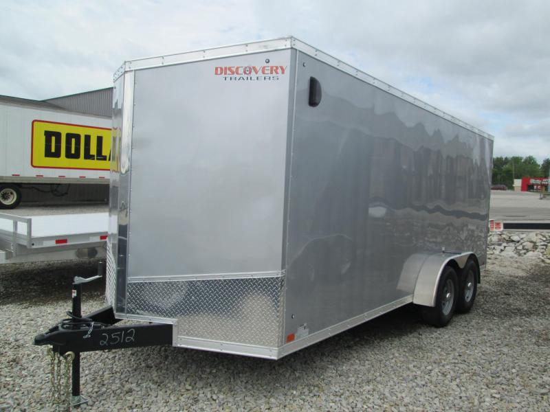 2019 7x18 10K Discovery Enclosed Trailer. 2512