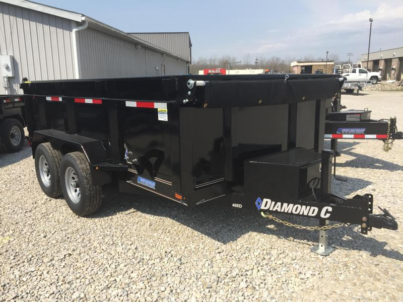 "2018 12'x77"" 10k Diamond C Dump Trailer. 00363"