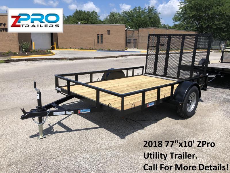 "2018 77""x10' ZPro Utility Trailer. 88059"