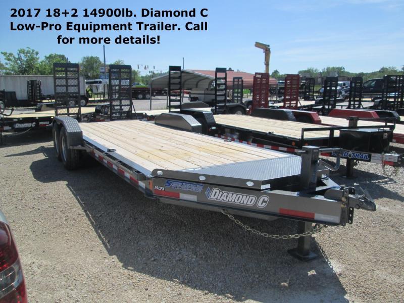 2017 18+2 14900lb GVWR Diamond C Low-Pro Equipment Trailer. 86149