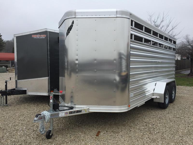 "2018 16'x6'7"" 9.6K Featherlite Livestock Trailer. 148390"