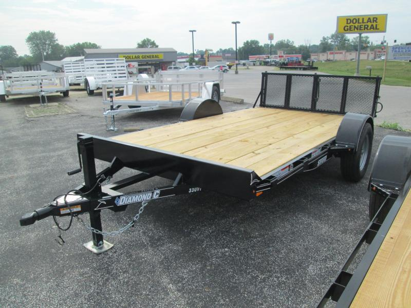 2017 77x12 Diamond C Utility Trailer. 90046