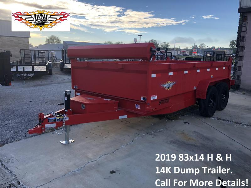 2019 H and H Trailer DBW Dump Trailer