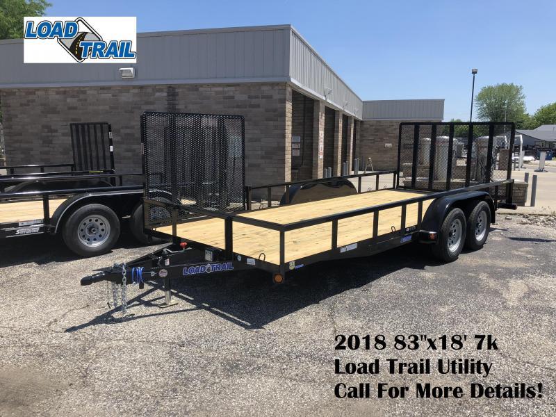 "2018 83""x18' 7k Load Trail Utility Trailer. 66584"