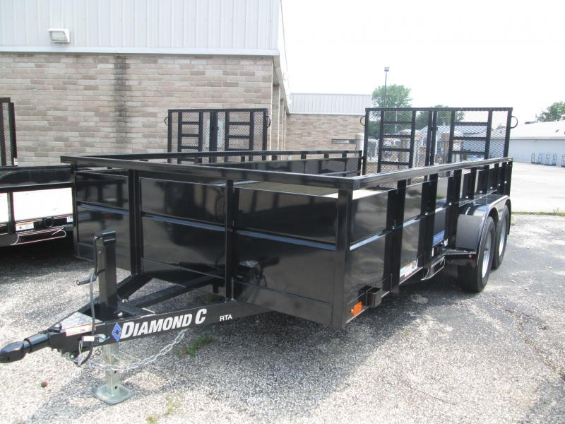 2019 16x83 7K Diamond C Utility Trailer. 14964
