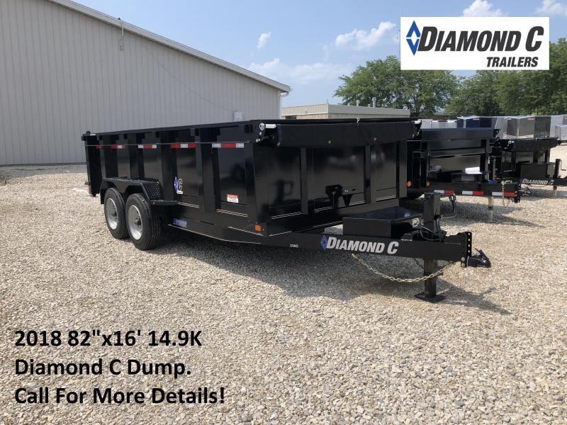 """2018 82""""x16' 14900lb GVWR Diamond C Dump. 03236 in Ashburn, VA"""