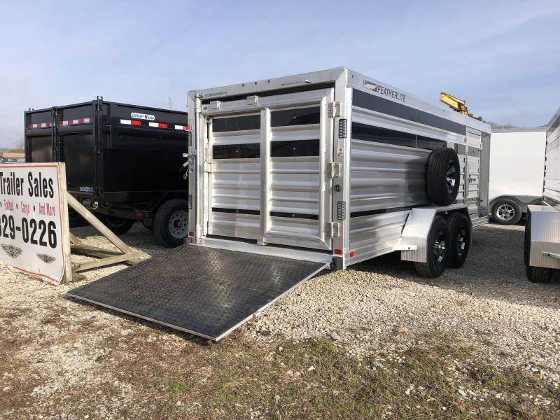 2018 18' 9.6k Featherlite Low-Pro Stock Trailer with Tack Room. 146975