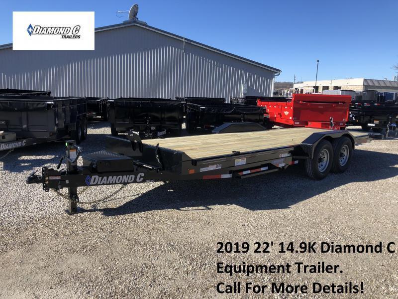 2019 22' 14.9K Diamond C Equipment Trailer. 08861