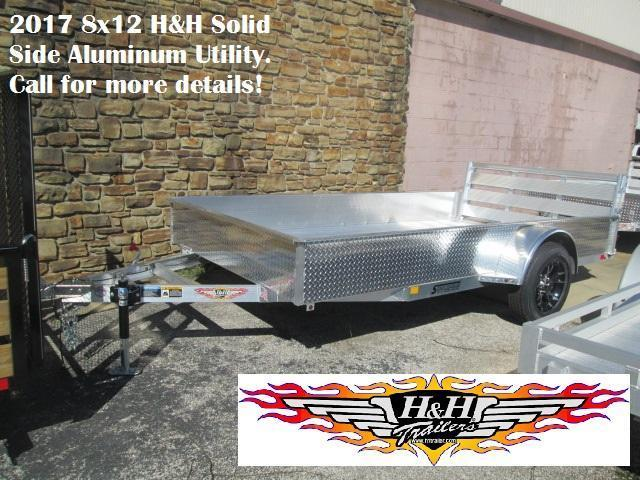 2017 8' x 12' H&H Solid Side Aluminum Utility.  63898