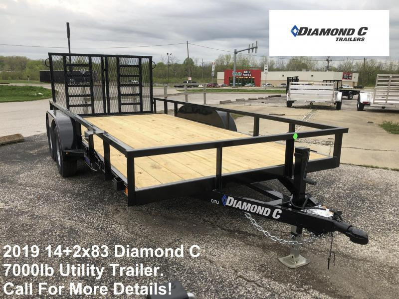 2019 14+2x83 7K Diamond C Utility Trailer. 14261