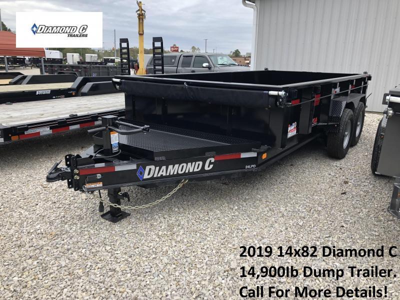 2019 14x82 14.9K Diamond C Dump Trailer. 4561