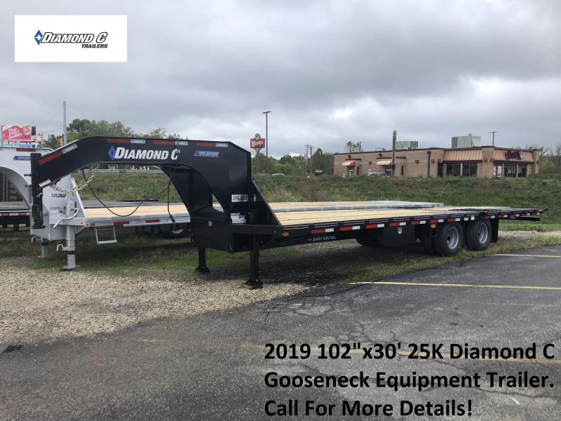 "2019 102""x30' 25k Diamond C Gooseneck Equipment. 06387"