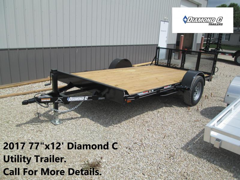"2017 77""x12' Diamond C Utility Trailer. 91245"