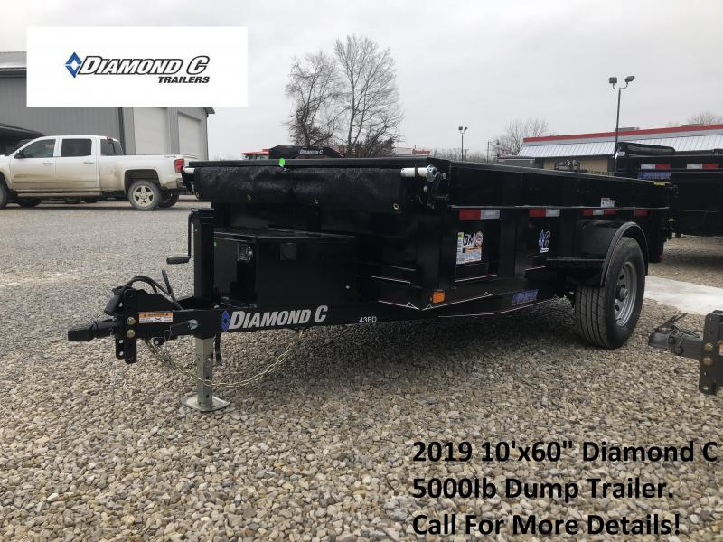 """2019 10'x60"""" 5K Diamond C Dump Trailer. 9634"""