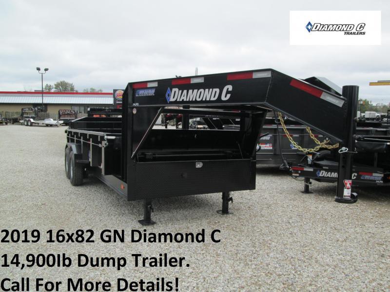 2019 16x82 14.9K GN Diamond C Dump Trailer. 5400