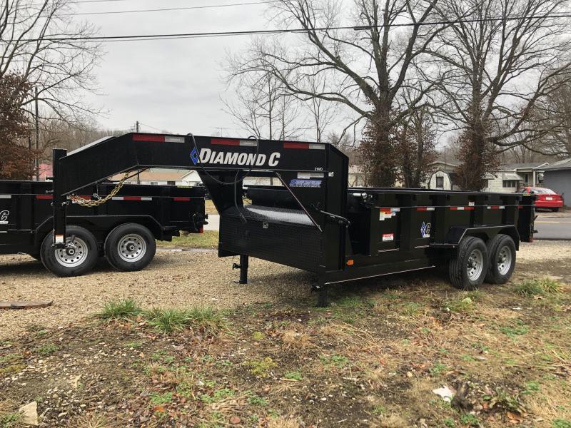 """2019 14'x82"""" 14.9K Diamond C GN Dump Trailer. 6598"""