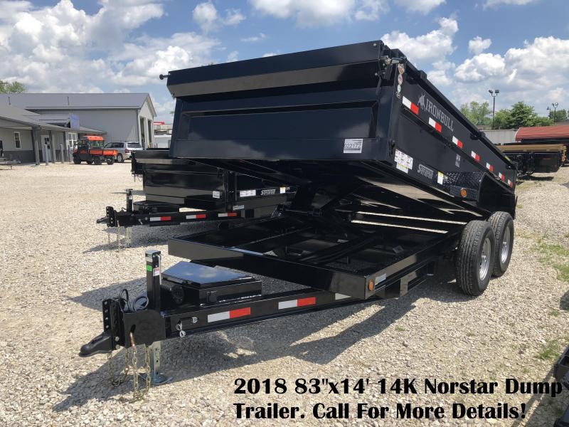 "2018 83""x14' 14K Norstar Dump Trailer. 22172"