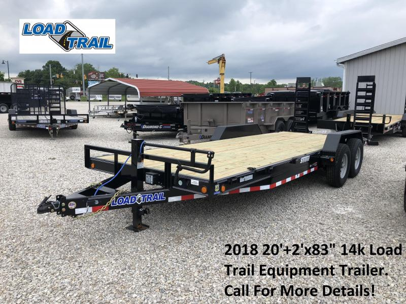 "2018 20'+2'x83"" 14k Load Trail Equipment Trailer. 66825"