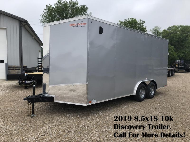 2019 8.5x18 10k Discovery Enclosed Trailer. 2622