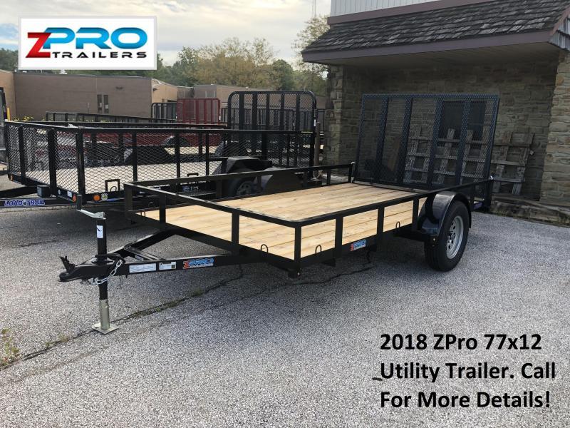 2018 ZPro 77x12 Utility Trailer. 88067