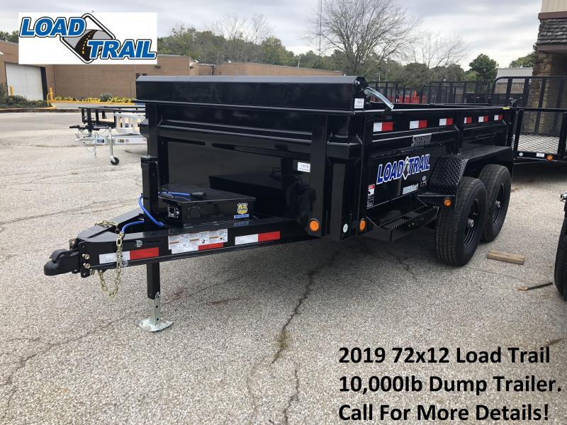 2019 72x12 10K Load Trail Dump Trailer. 76734
