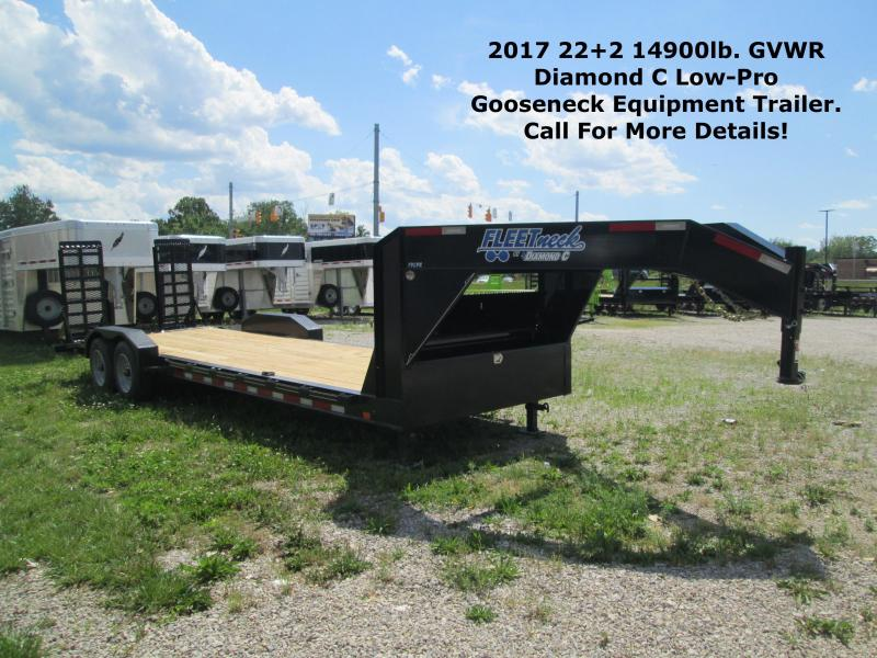 2017 22+2 14900lb. GVWR Diamond C Low-Pro Gooseneck Equipment Trailer. 88299